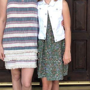 EUC girl's tank dress sz xl (14)